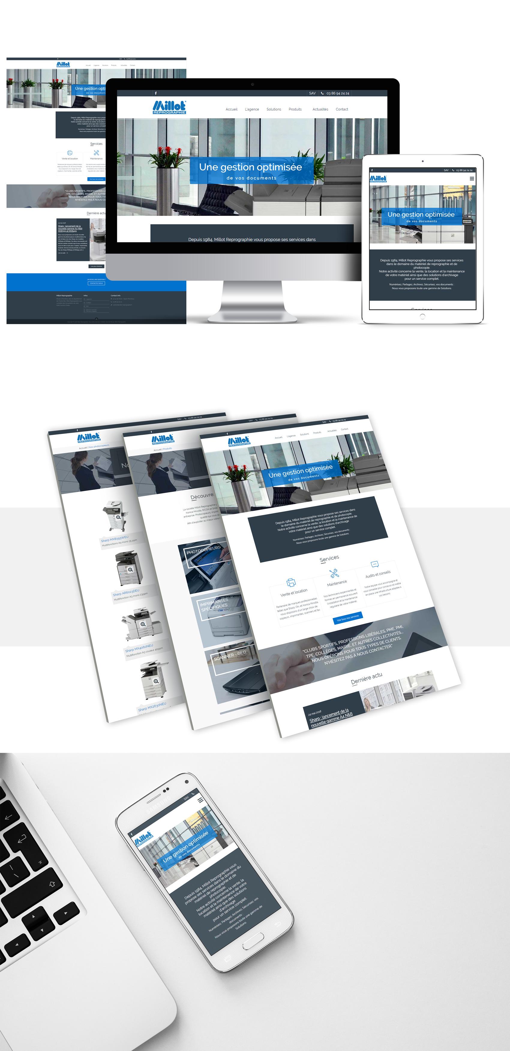 création webdesign pour Millot-Reprographie
